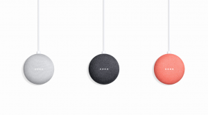 Google Home Mini3色カラー展開の写真