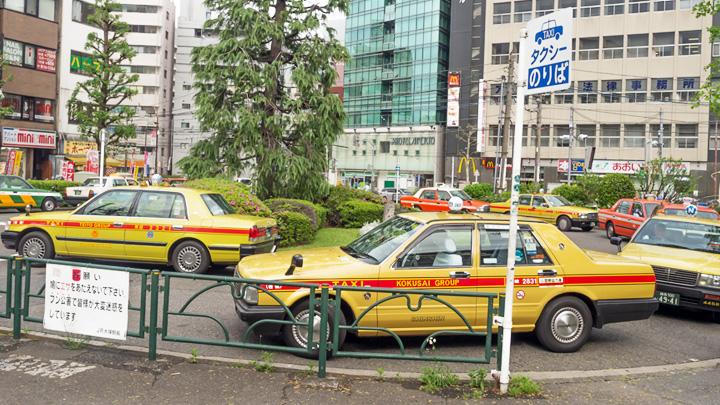 AIのタクシー配車システムのイメージ