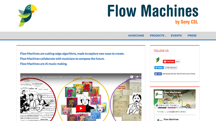 Flow Machinesのイメージ