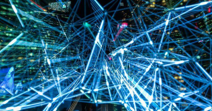 AIがブロックチェーンを管理するイメージ
