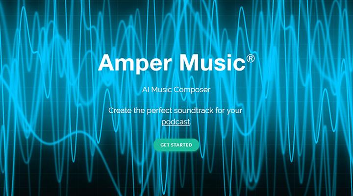作曲してる音楽AI(人工知能)Amper Musicイメージ