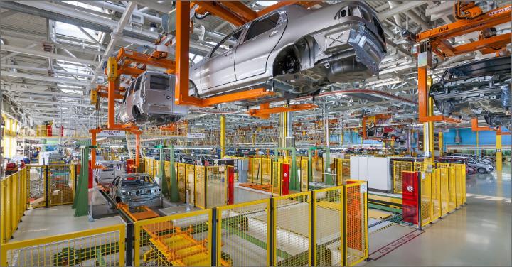 自動車の製造ラインのイメージ