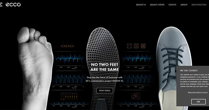 「QUANT-U」でAIが靴のミッドソールを製作して履き心地アップイメージ