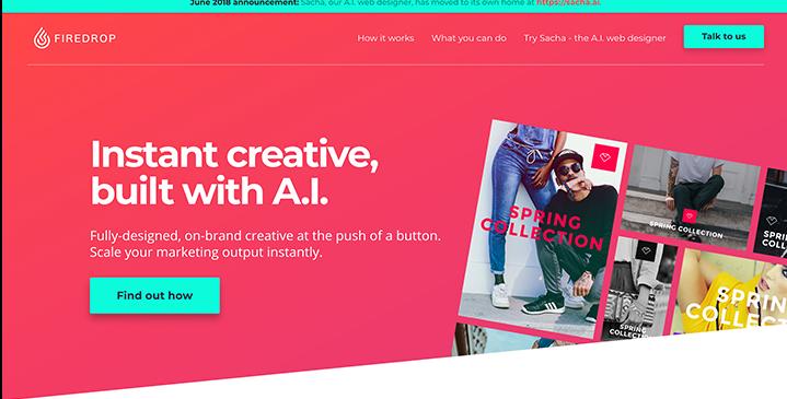 Firedropのホームページ