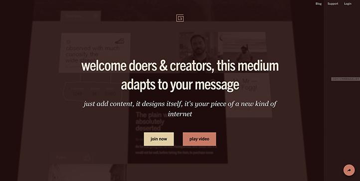 The Gridのホームページ