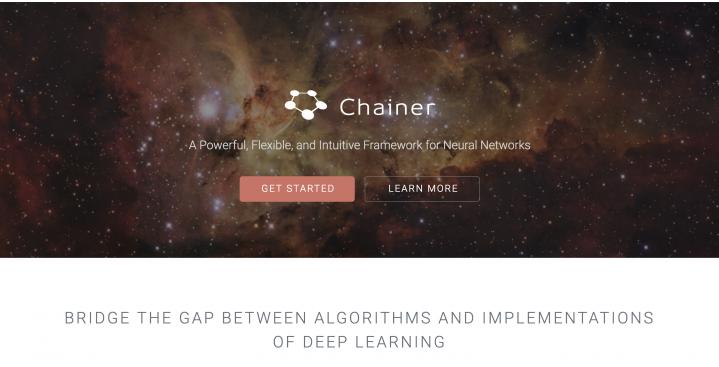 Chainerのホームページ