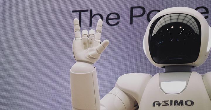 展示されているロボットのイメージ