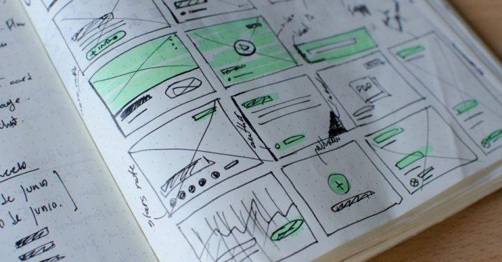 デザインを決めるイメージ