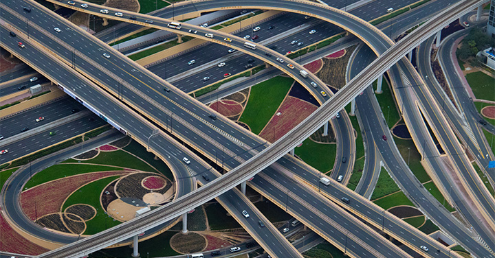 大都市の交通のイメージ