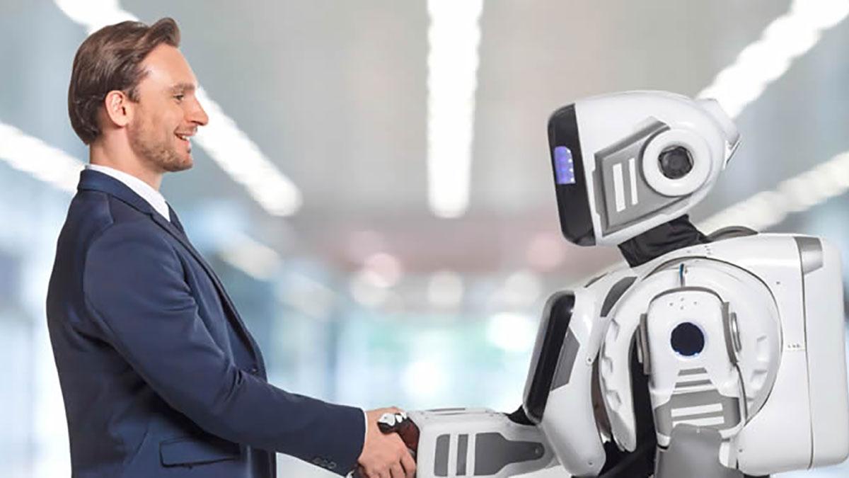 AIと人間が一緒に働くイメージ