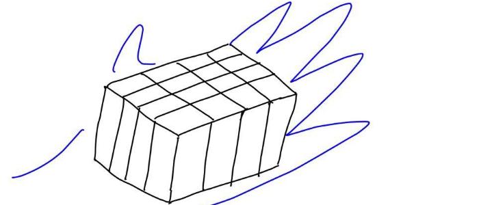 豆腐を切るイメージ