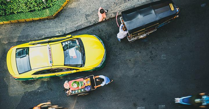 自動運転と人の共存のイメージ