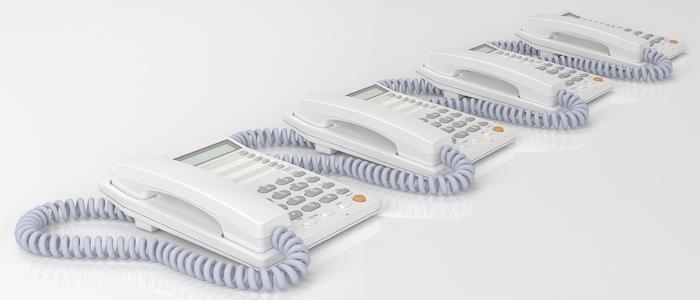 コールセンターで使用する電話器のイメージ