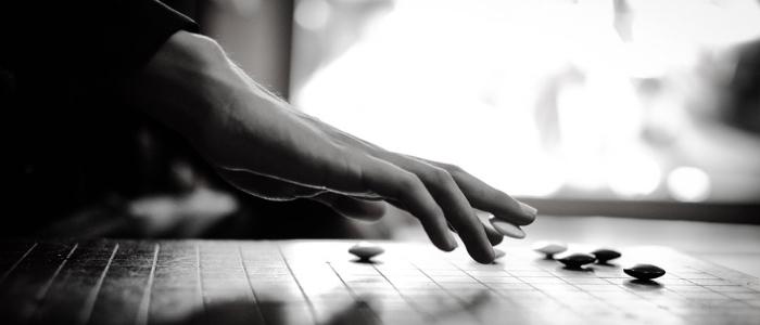 囲碁を打っているイメージ