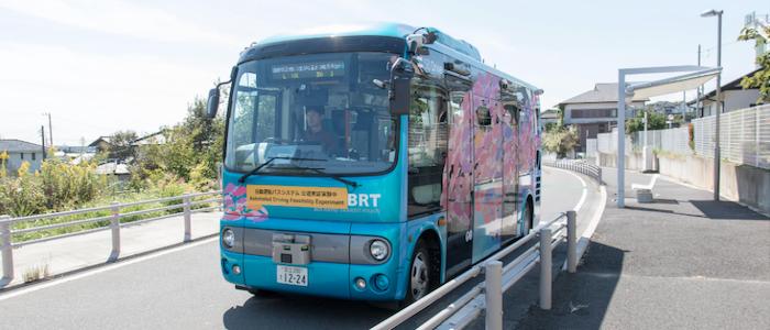 BSドライブ社の自動運転バスのイメージ
