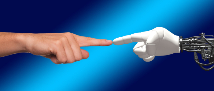 AI(人工知能)と人間の組み合わせのイメージ