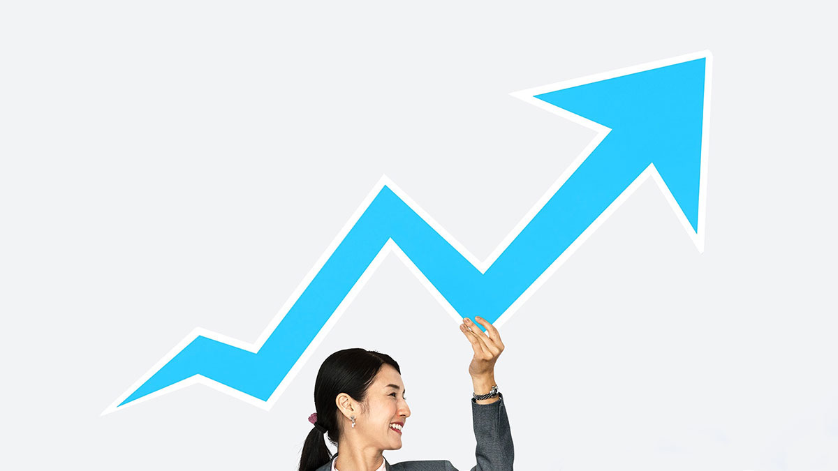 株価がアップするイメージ