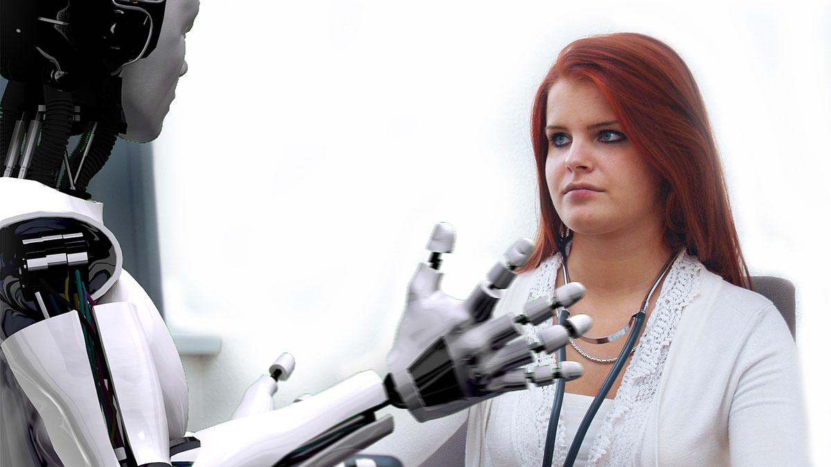 AIと人間のイメージ