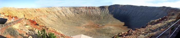 隕石が衝突したイメージ