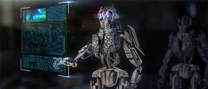 人工知能が攻撃してくるイメージ
