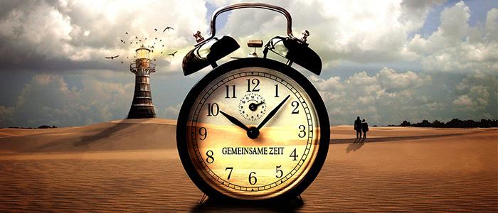 眠りを誘うロボットの時計機能のイメージ