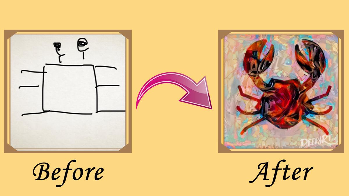 人工知能がど下手な私の絵をプロの画家みたいに変えてくれた!
