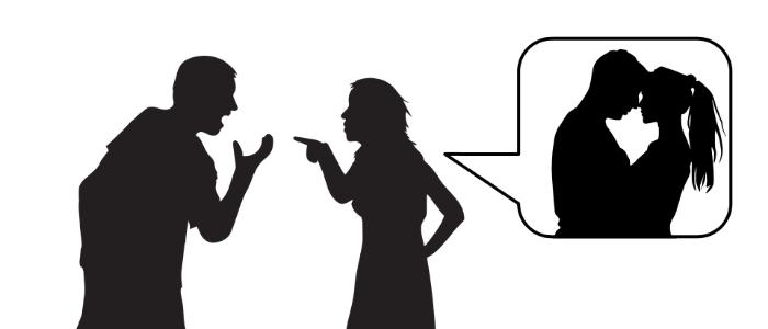 男女関係で問題が怒っているイメージ