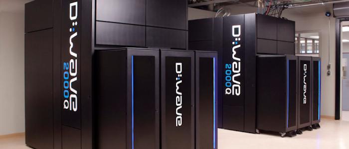 D-Wave社量子コンピュータのイメージ