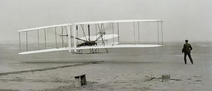 ライト兄弟による初飛行のイメージ
