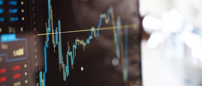 株価が上下するイメージ
