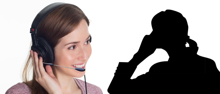 コールセンターに導入されるAIのイメージ