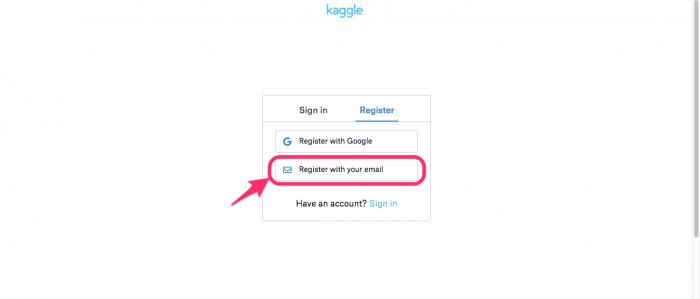 新規登録のイメージ