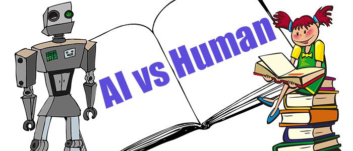 AIと人の対決のイメージ