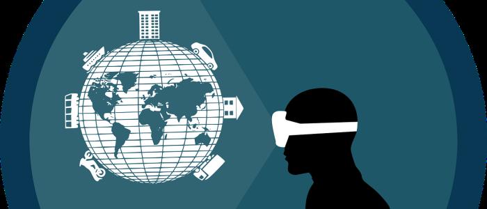 VRを通じてさまざまなものを見るイメージ