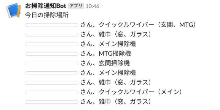 Botからのメッセージ