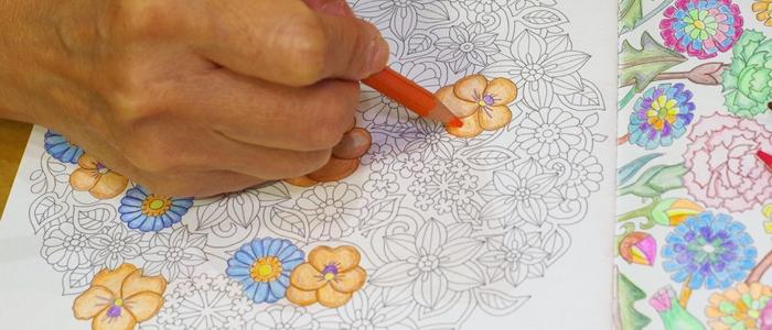 お花のコロリアージュのイメージ
