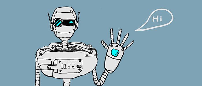人間ぽいロボットのイメージ