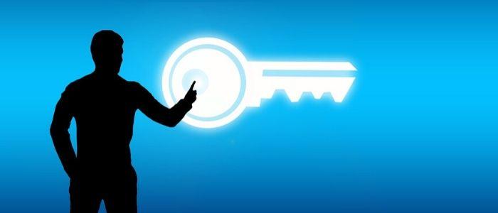 鍵を開けるイメージ