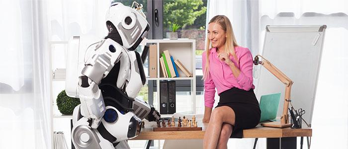 AIと会話するイメージ