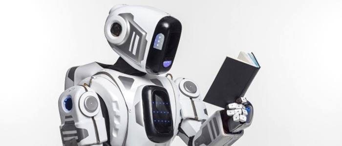 ロボットが勉強をするイメージ