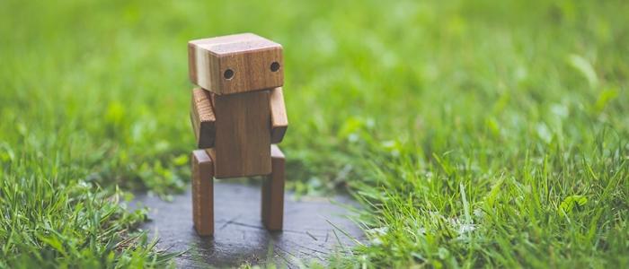 木製ロボットのイメージ