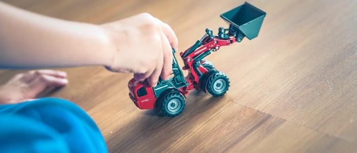 ショベルカーのおもちゃのイメージ
