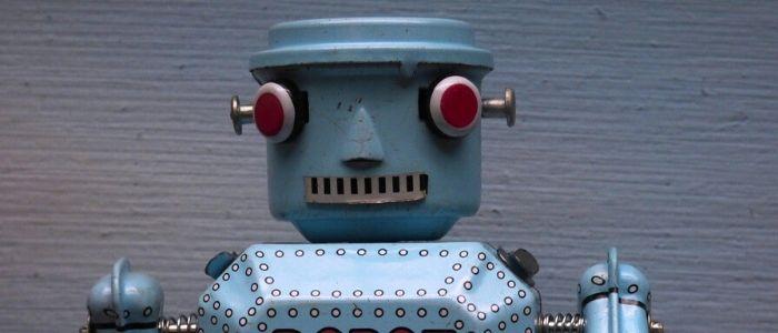ロボットで未来を見るイメージ