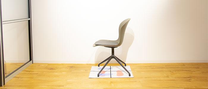 椅子を設置したイメージ