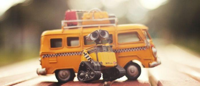 組み立てたロボットのイメージ
