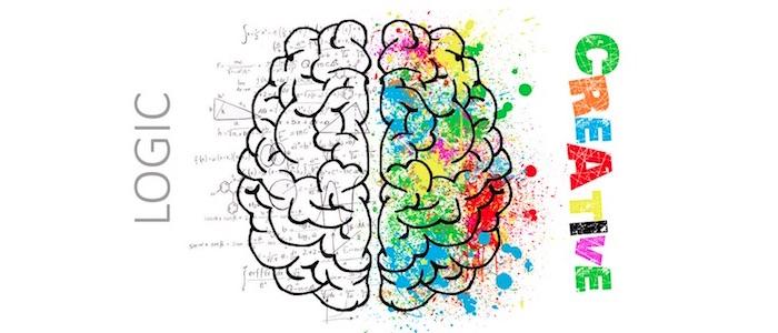 右脳が左脳を補うイメージ