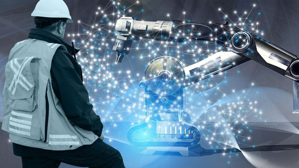 ロボットとニューロンのイメージ