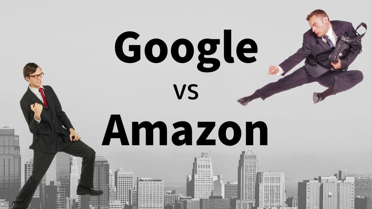 GoogleとAmazon対決イメージ