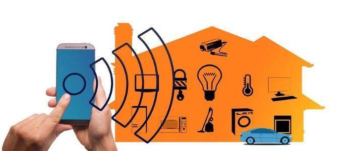 家電を遠隔操作するイメージ