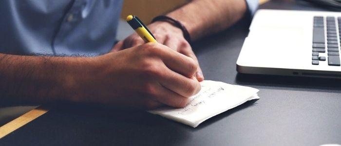 文章を書くイメージ